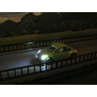 Модель Volkswagen New Beetle(LED 12 вольт). Масштаб HO-1:87.