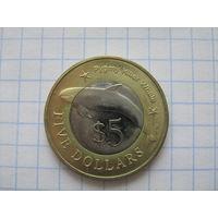 Микронезия 5 долларов 2012г