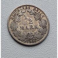 "Германия 1/2 марки, 1906 ""A"" - Берлин 7-10-12"