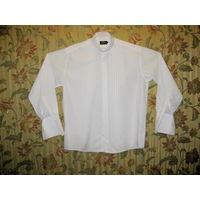Рубашка MARKS&SPENCER под бабочку и запонки р-р 54-56