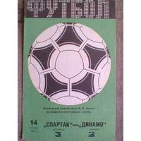 1984 год Спартак Москва--Динамо Минск