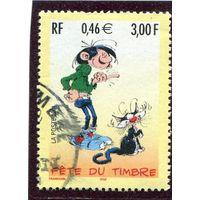 Франция. Андре Франкен, бельгийский художник и автор комиксов