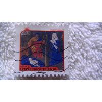 Францыя марка. религия. Jean Fouguet распродажа