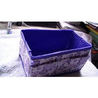 Складная коробка для косметики. фиолетовые цветы. распродажа