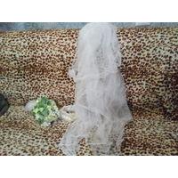 Фата, букет, подвязка, бутоньерка на свадьбу
