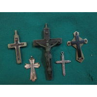 Крестики нательные 5 шт(2 шт.серебро 84 пр)