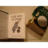 Мини книга малышка на испанском языке Высказывания про гольф