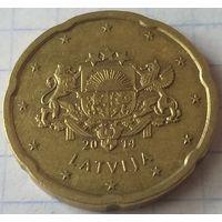 Латвия 20 евроцентов, 2014      ( 4-7-4 )
