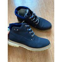 Ботинки зимние темно синие 36 р