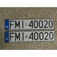 Автомобильный номер Польша FMI40020