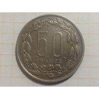 50 франков Центральная Африкка 1961г Конго Габон Чад.