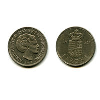 Дания 1 крона 1980