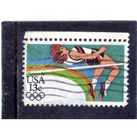 США. Mi:US 1645. Прыжки в высоту .Олимпийские игры 1984 - Лос-Анджелес.