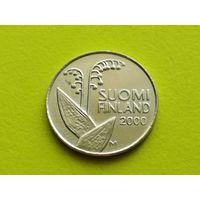 Финляндия. 10 пенни 2000. Брак, выкрошка.