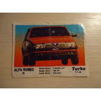 РАСПРОДАЖА ВСЕГО!!! Вкладыш Turbo из серии номеров 51 - 120. Номер 114