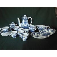 Чайный сервиз, кофейный сервиз, марки Enoch Wedgwood (Веджвуд), Англия. Клеймо.