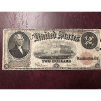 2 доллара 1917 года,цена актуальна до 20.06.2019