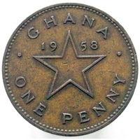 Гана 1 пенни 1958 (2-90)