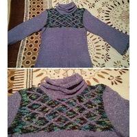 Сиреневый свитер - размер 46-48