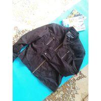 Куртка джинс коричневая р. 52 Италия