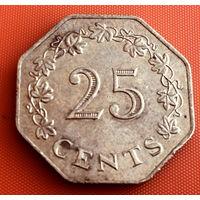 100-18 Мальта, 25 центов 1975 г.