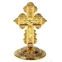 Крест на подставке, бронзовый цвет и под золото