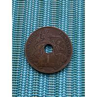 Французский Индокитай 1 цент 1910 г.