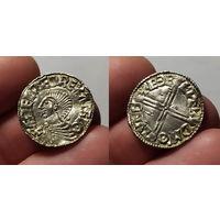 Англо-Саксы, король Аэтельред II, 978-1016 годы, пенни, г. Лондон, 20 мм. Редкая монета в шикарном коллекционном сохране.