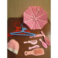 Зонтик и другие аксессуары для кукол типа Барби