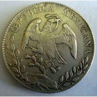 Мексика (Первая республика). 8 реалов 1892 г.
