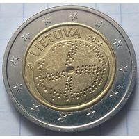 Литва 2 евро, 2016 Балтийская культура             ( 6-7-3 )