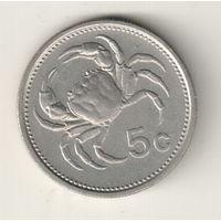 Мальта 5 цент 1986
