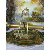 Январская РАСПРОДАЖА С РУБЛЯ! Подставка для тарелок картин фото книг бронза литье Италия АРТ 12-07 Успейте Купить!