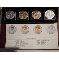 Набор монет 1$.2014г. Времена года. Серебро.