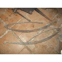 Старинные кованные рессоры на бричку.металл крепкий