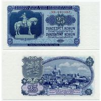Чехословакия. 25 крон (образца 1953 года, P84b, UNC)