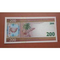 Банкнота 200 угия Мавритания 2004 г.