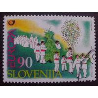 Словения 1998 Европа Mi-4,0 евро гаш.