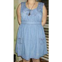 Фирменное джинсовое платье, р-р 46-48