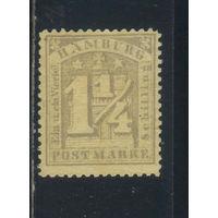 Гамбург Германия 1864 Номинал Стандарт #8ND*.