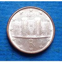 Италия 1 евроцент 2017