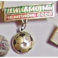 Значок Динамо-Минск чемпион СССР 1982 г.