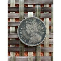 Британская Индия 1/4 рупии 1862 г.