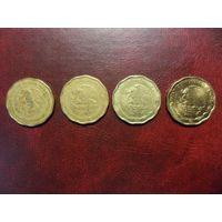 Мексика 50 центаво 1999 и 2001 г.