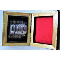 Небольшая коллекция серебряных полтинников 1924 года СССР 8*50 копеек=4 рубля серебром, 7 штук ТР (ТОМАС РОСС) + 1 шт. ПЛ (ПЕТР ЛАТЫШЕВ)