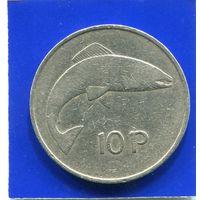 Ирландия 10 пенсов 1969 , большая