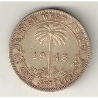 Британская Западная Африка 1 шиллинг 1943