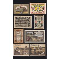 Германия Нотгельды,1921 8 штук.