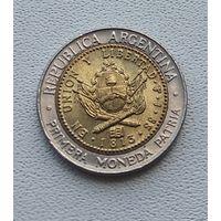 Аргентина 1 песо, 1996  7-14-4