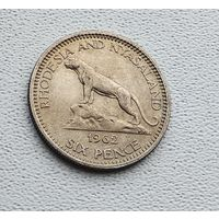 Родезия и Ньясаленд 6 пенсов, 1962 1-1-38